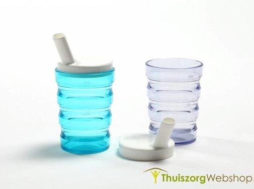 Rillenbeker met 2 drinktuitjes