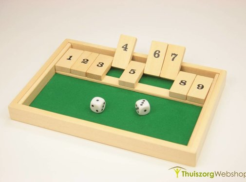 Dobbelspel met getallenstaafjes