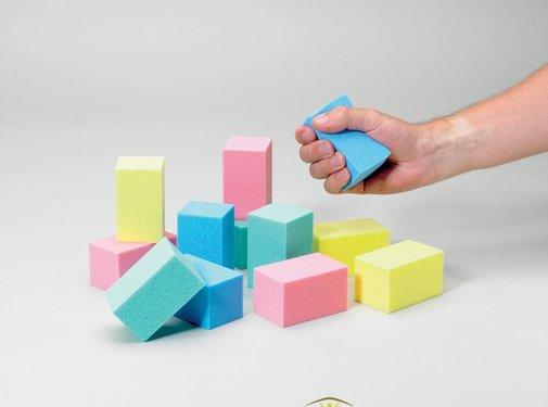 Schuimblokken voor handoefeningen