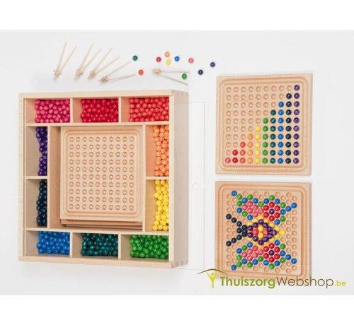 Legspel met gekleurde kogeltjes (2 sets)