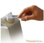 Opener voor kartonnen verpakkingen met schroefdop