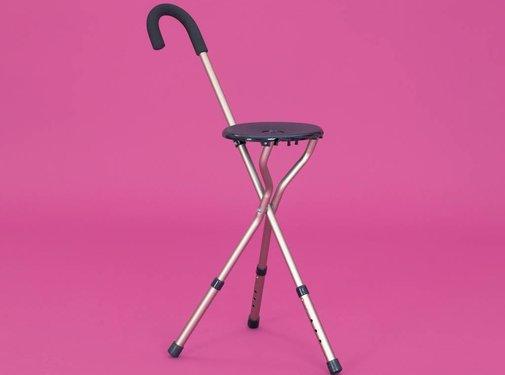 Wandelstokstoeltje in aluminium Homecraft, lichtgewicht