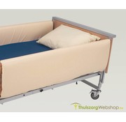 Bekleding voor bedhek volle lengte, beige vinyl