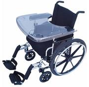 Transparante werkblad voor rolstoel