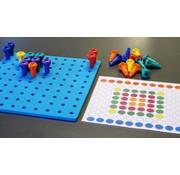 12 patronenkaarten voor pennenbord uit zacht materiaal