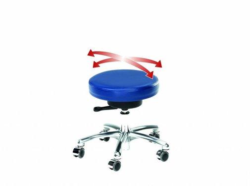 Werkkruk Rollhocker Flex met 5 wielen en zachte Flexibele zitting