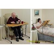 Tafel voor over een éénpersoonsbed of zetel