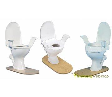 Toiletverhoger/verkleiner met armsteunen uit 1 stuk