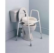 Losse toilet verhoger met armsteun op pootjes