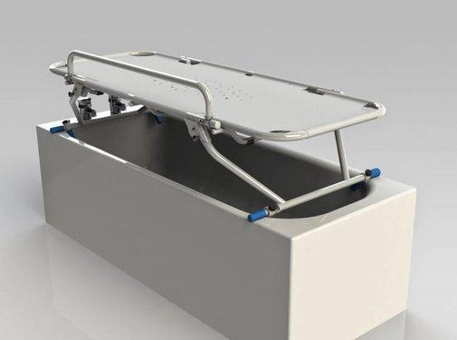 Inklapbare verzorgingstafel voor over de badkuip