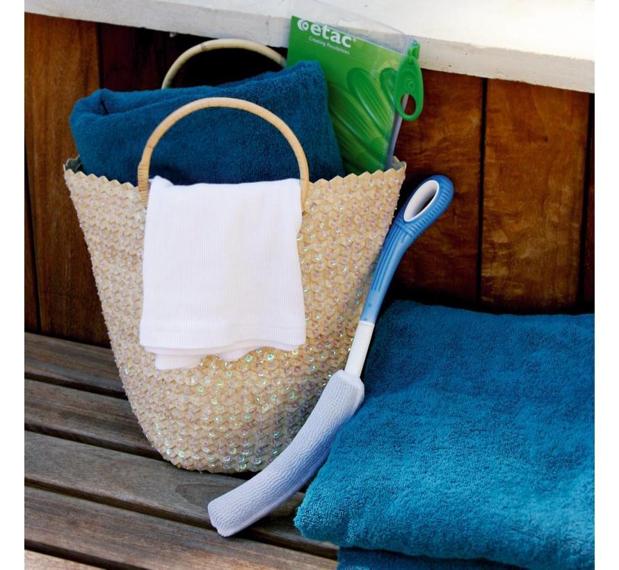 Ergonomische badspons met verlengd handvat