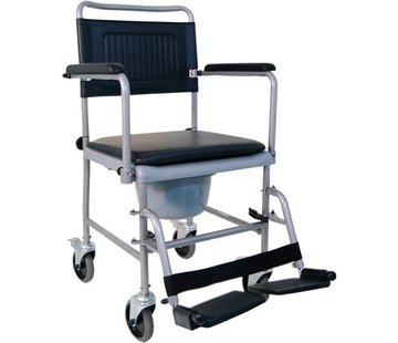 Zwarte po/douche-stoel op wielen