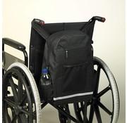 Trendy zwarte opbergtas voor achteraan de rolstoel
