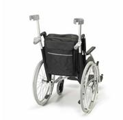 Opbergtas voor achter de rolstoel met wandelstokzakjes