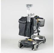 Opbergtas voor achter de scootmobiel of rolstoel met wandelstokzakje
