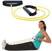 Elastische Exercise tubing MSD set met handvatten 120 cm