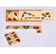 Domino met vlinders