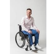 So Yes! Luxe katoen rolstoelbroek heren middenblauw