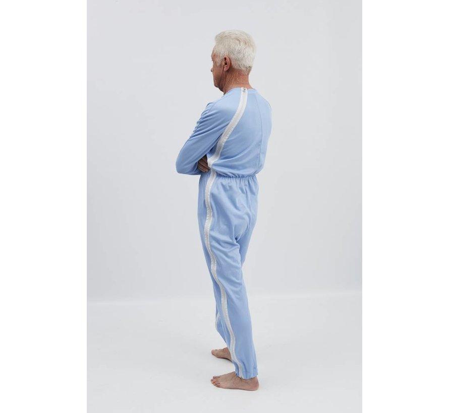 Pyjama met ritssluiting via de schouder naar de zijnaad en