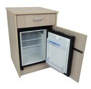 Nachtkastje met geïntegreerde koelkast