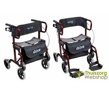 Plooibare rollator/rolstoel 2-in1
