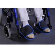 Antislip pantoffel voor aan de rolstoel