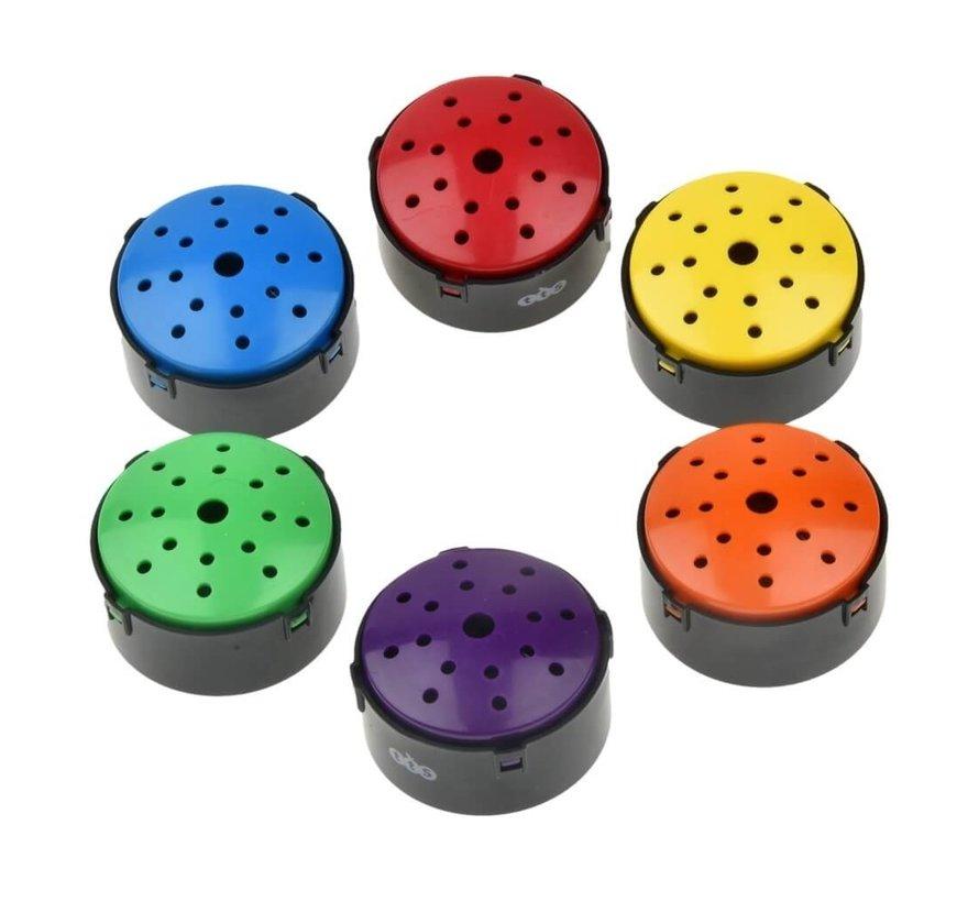 Gekleurde praatknop, set van 6 kleuren
