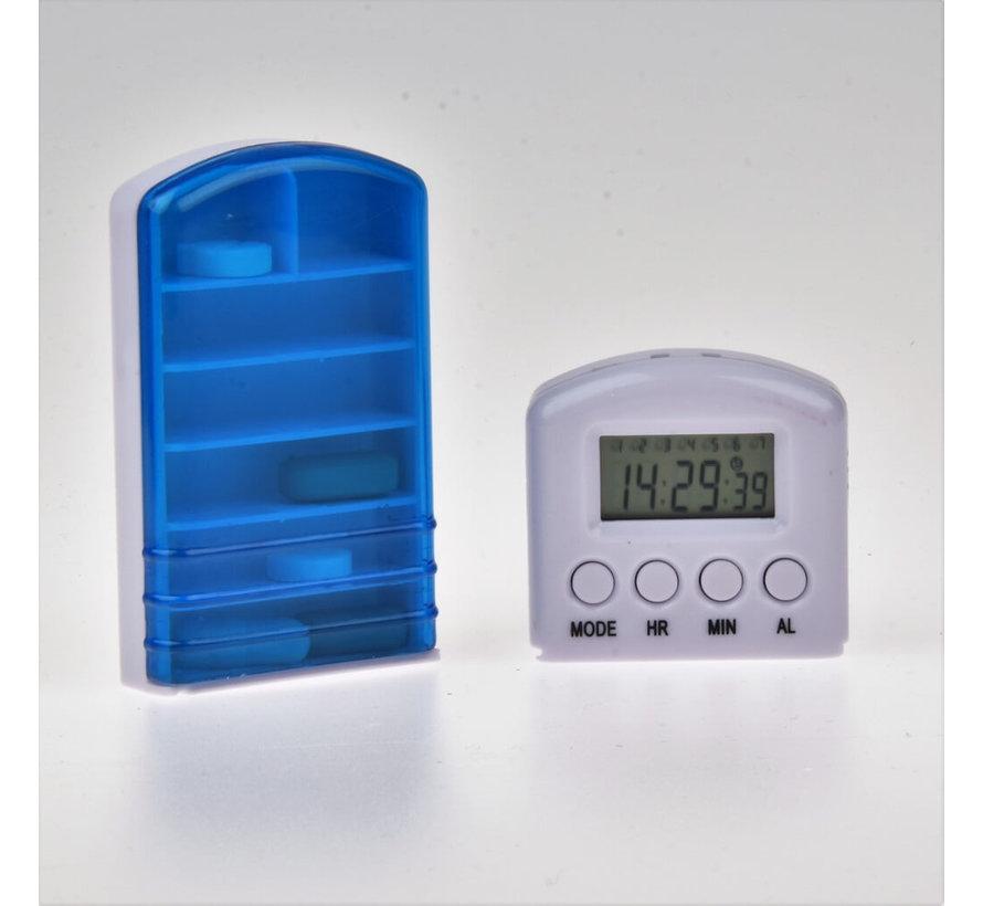 Medicijnalarm met 7 alarmen tril-en geluid