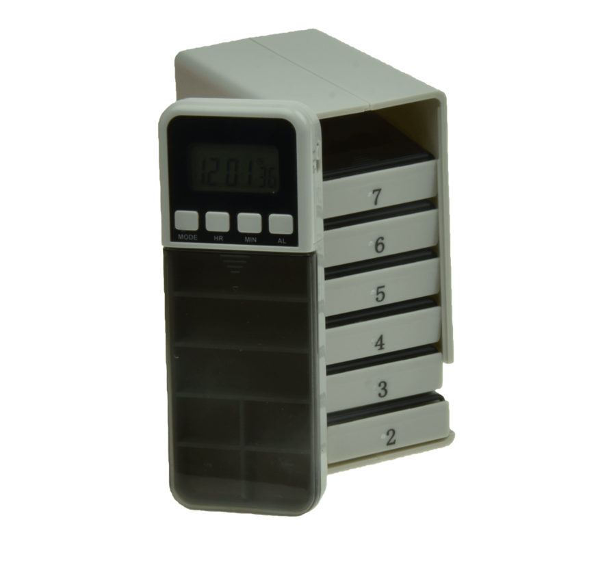 Medicijnalarm Pillbox met weeklader
