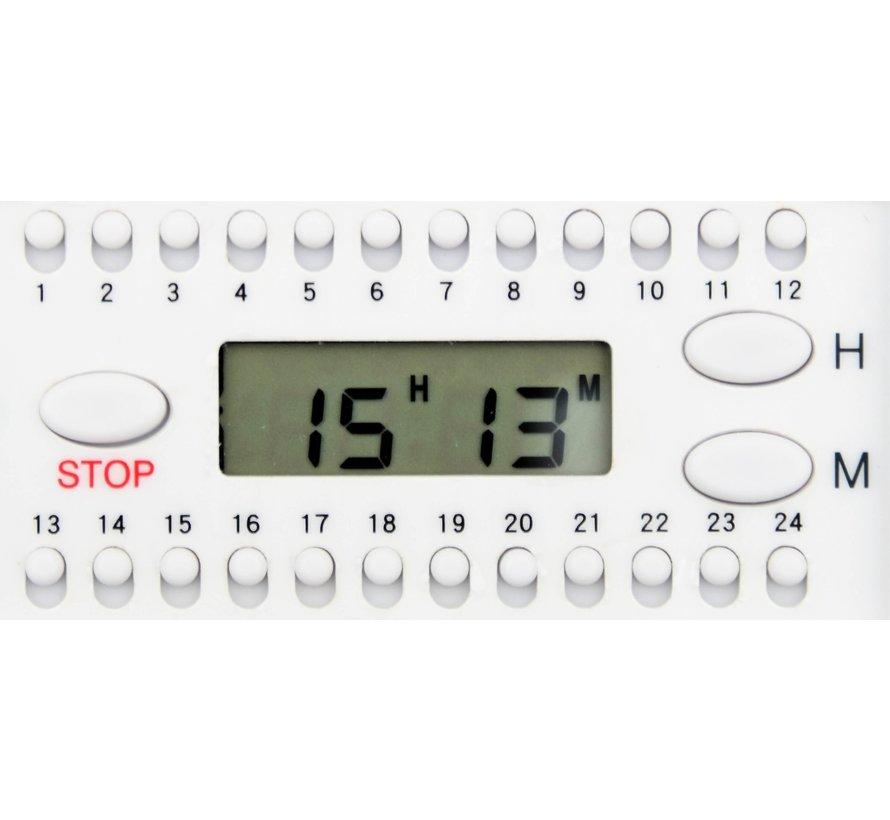 Medicijnalarm met alarm en weeklader