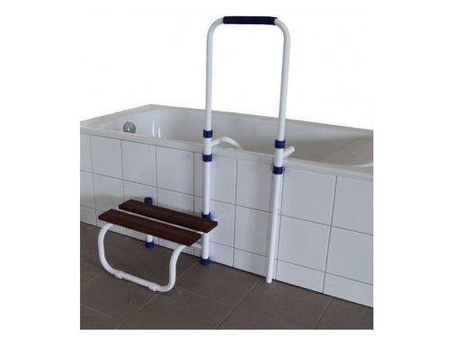 Opstap met verstelbare handgreep voor bad