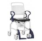 Hoogte verstelbare douche-/toiletstoel met zwenkbare en afneembare voetsteunen