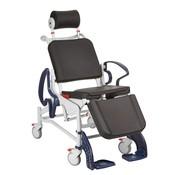 Kantelbare toilet/douche rolstoel
