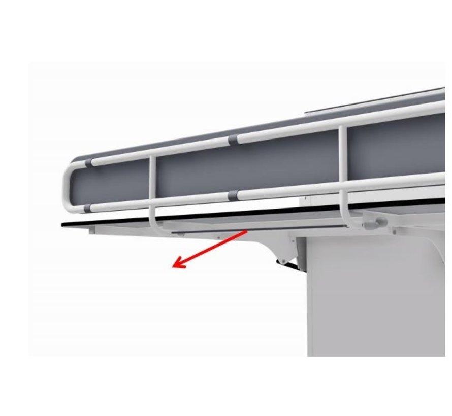Opklapbare verzorgingstafel voor wandbevestiging Ropox Vario, elektrisch  hoogteverstelbaar