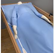 Geïntegreerd verpleegdeken met mouwen voor alternating matrassen