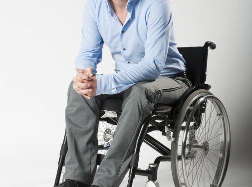 Sondage rolstoelbroek met ritsen aan zijkant