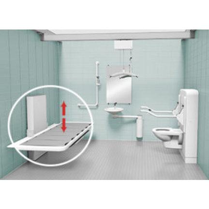 Verzorgingstafels, aangepaste lavabo's, baden en douches