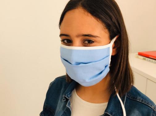 Herbruikbaar mondmasker met linten