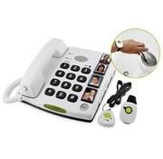 Seniorentelefoon met gekoppeld nek- en polsalarm