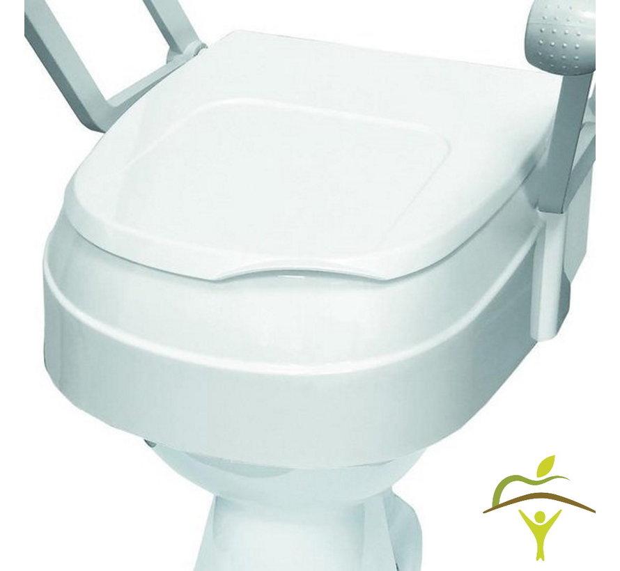 Hoogteverstelbare toiletverhoger met opklapbare armsteunen, compact TSE 120