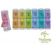 Kleurrijke Medicijndoos voor een week met handige drukknoppen