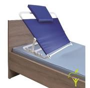 Verstelbare rugsteun voor bed, met hoofdkussentje
