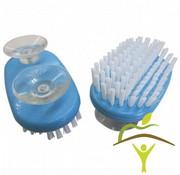 Handborstel op zuignappen voor éénhandig gebruik