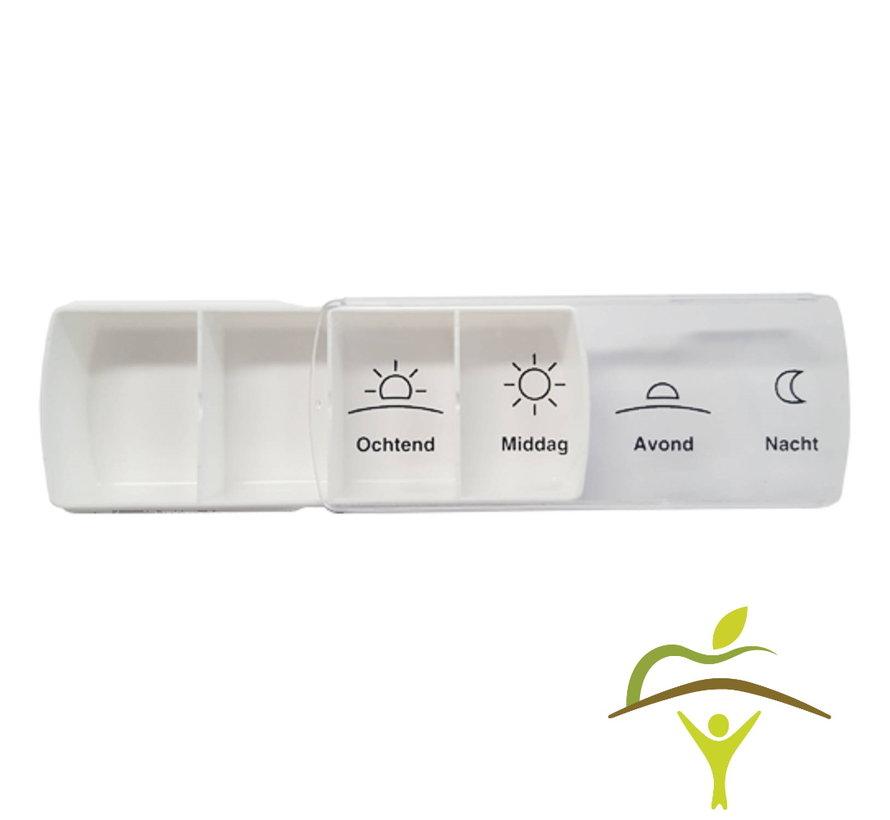Pillendoos Anabox Compact voor 1 week, 4 vakken per dag