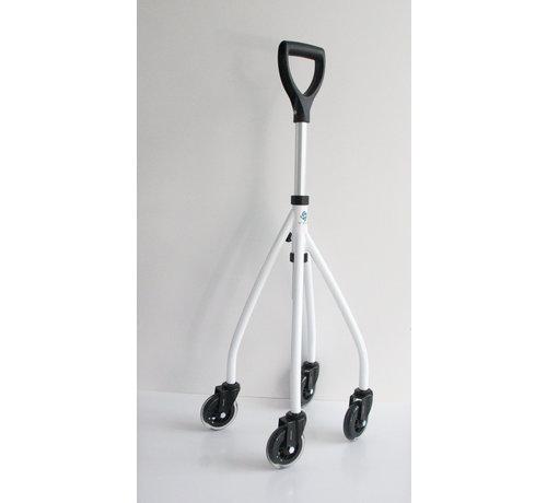 Vierpoot wandelstok op wielen Wheeleo