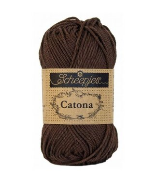 Scheepjes Catona 10g - 162 - Black Coffee