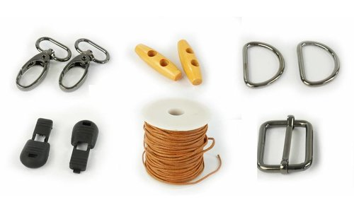 Small haberdashery - buckle - stoppers - cord - buttons - etc