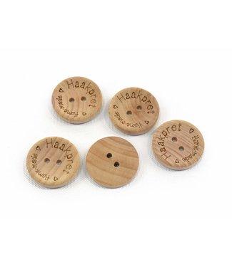 Haakpret bouton en bois Haakpret - 2 cm
