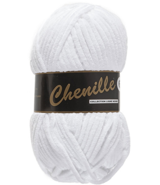Lammy Yarns Chenille 6 - 005 - wit