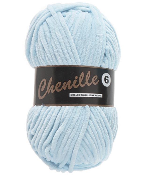 Lammy Yarns Chenille 6 - 011 - baby blauw